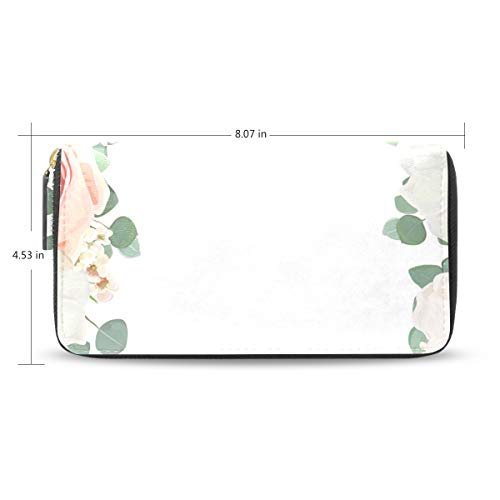 Pop Powder Benefit (Bloom Rose Water Super Fashion Zipper Wallet Exquisite Beautiful And Durable Simple Wallet)