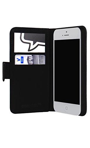 Flip Wallet Case / Klapphülle für iPhone 5 und 5s mit Designer Motiv - ''Glyzbryks'' von Spires