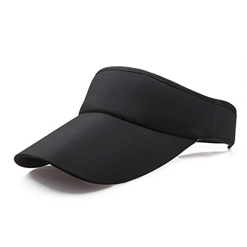New Tennis Caps Stylish Women Men Unisex Beach Sports Sun Visor Hat Golf Caps Summer Travel Sun Hat Outdoor,Black]()