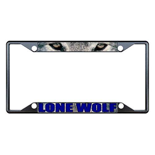 Yohoba Lone Wolf Animal Eyes Metal Metal License Plate - Frame Eagle Lone License Plate