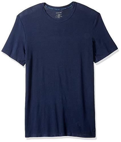 Calvin Klein Men's Ultra Soft Modal Short Sleeve Crew Neck T-Shirt, Blue Shadow, L