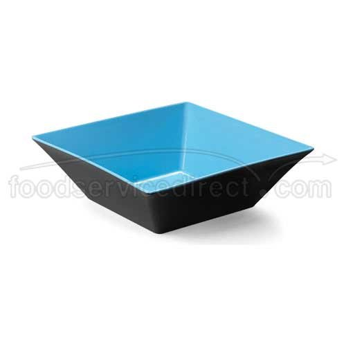- Brasilia ML-249-BL/BK Square Bowl, 12.8 quart, Blue/Black (Pack of 3)