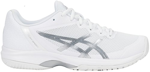 ASICS Womens Gel-Court Speed Sneaker, White/Silver, Size 8