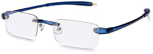 Visualites 201 Reading Glasses,Navy Frame/Clear Lens,2.25 Strength,48 - Frames Glasses Vision