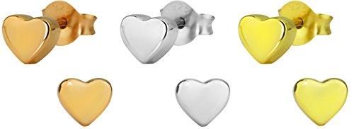Hypoallergenic Sterling Silver Little Heart Stud Earrings for Kids (Nickel Free)