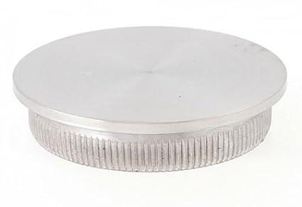 Edelstahl Einschlagkappe flach massiv für Rohr 42, 4 x 2, 0 mm - V2A Edelstahldiscounter