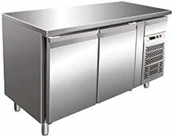 Mesa Congelador Gastronomia GN1/1 Ventilado 2 puertas de acero ...
