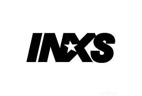Inxs rock band logo stickers rock band symbol 6 decorative die cut decal blac