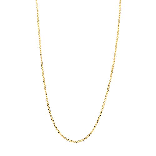d Delicate Diamond Cut 0.85mm Cable Chain Necklace, 18