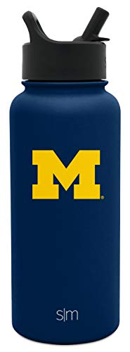 Simple Modern University Collegiate 32oz Summit Water Bottle with Straw Lid - Wolverines Michigan Bottle