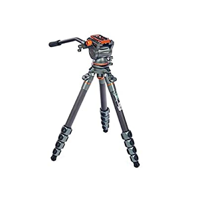 Image of 3 Legged Thing Legends Jay Carbon Fibre Travel Leveling Base Tripod with AirHed Cine & Arca-Swiss Compatible Video Plate Complete Tripods