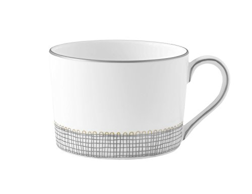 Wedgwood Gilded Weave Platinum Teacup Imperial, White