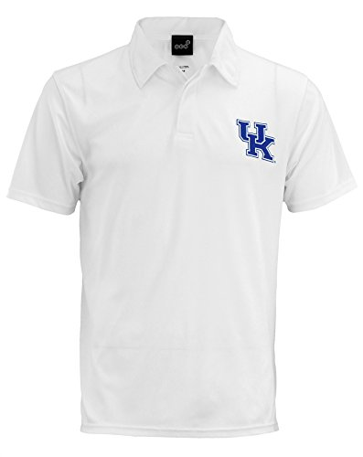 (Outerstuff Kentucky Wildcats NCAA Mens Short Sleeve Performance Polo, White Small)