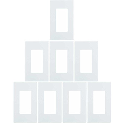 Leviton 80301-SW 1-Gang Decora Plus Wallplate Screwless