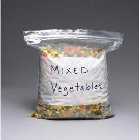 - Elkay Plastics 1GALFR Freezer Seal Top Bag with White Block, 1 gal, 10 9/16