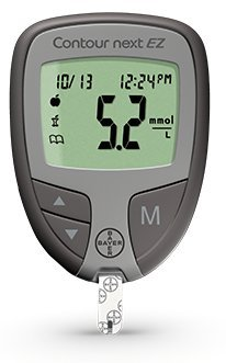 Raindrop-USA-Bayer-Contour-NEXT-EZ-Complete-Diabetes-Blood-Glucose-Testing-Kit-METER-Test-Strips-Lancets-Lancing-Device-Control-Solution-Carry-Case-110-Test-Strips-110-Lancets