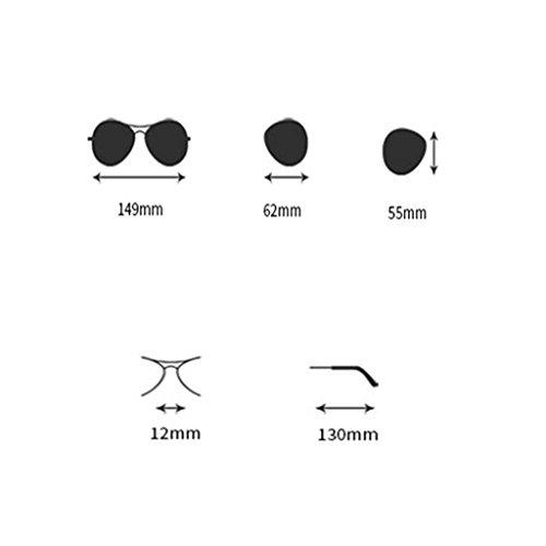 400 Lunettes D HD Soleil Métal HAIYING Polarisées Protection Lentille Avec C Cadre UV Hommes De Étui Mens Couleur TwwqHz
