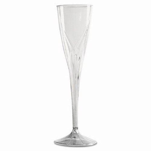 WNA CWSC5 Classicware One-Piece Champagne Flutes, 5 oz, Clear, Plastic (Case of 100)