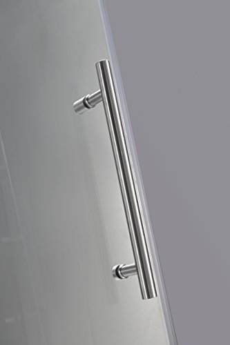 Aston TDR978-SS-60-10 60-Inch x 60-Inch Completely Frameless Tub-Height Shower Sliding Door, Stainless Steel Finish by Aston (Image #5)