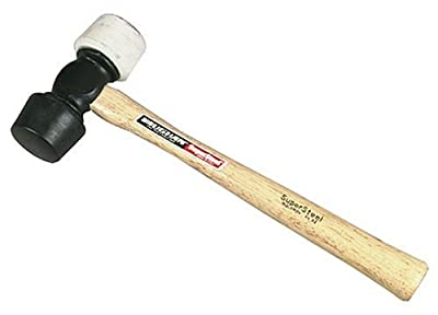 Vaughan 195-10 RM24 Rubber Mallet with 24-Ounce White/Black Tip