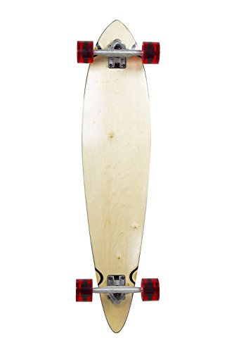 (Natural Blank & Stained Complete Longboard Pintail Skateboard (Natural, 40