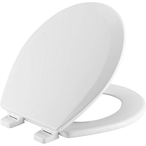 (BEMIS 500TTT 000 Toilet Seat will Never Loosen and Provide the Perfect Fit, ROUND, White)