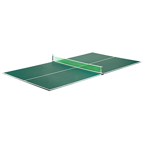 Discover Bargain Hathaway BG2323 Quick Set Conversion Table Tennis Top for Pool Tables, 1, Green
