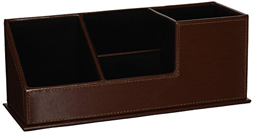 C.R. Gibson - Brown Bonded Leather Supply Caddy (MSC-11546)