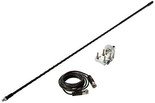 Solarcon 213B Black 3' Fiberglass 750W Top Loaded CB Antenna with Mirror Mount/Cable (Solarcon Antenna)