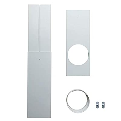 "JIANZHENKEJI Window Seal | Mobile Air Conditioners Sliding Window PVC Seal Kit | Multipurpose Window Vent, Suitable for Portable Air Conditioner with 5""/5.9"" AC Air Conditioner Diameter Hoses"