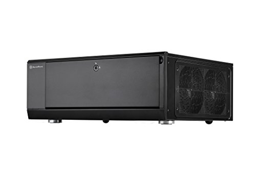 SilverStone Technology Home Theater Computer Case  (HTPC)with lockable front panel for ATX / Micro-ATX Motherboards GD10B ()