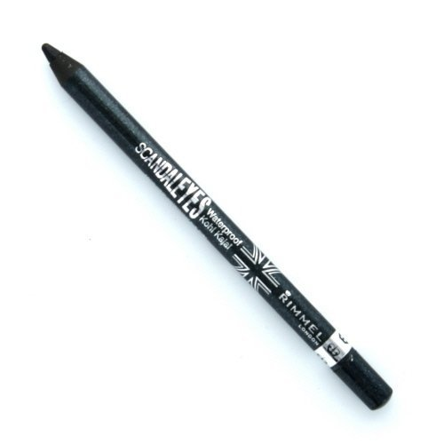(3 Pack) RIMMEL LONDON ScandalEyes Waterproof Kohl Kajal Eye Liner - Sparkling Black