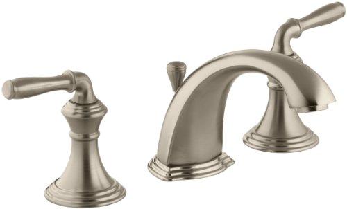 (KOHLER Devonshire K-394-4-BV 2-Handle Widespread Bathroom Faucet with Metal Drain Assembly in Brushed Bronze)