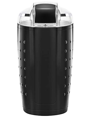 Chefman Electric One-Touch Coffee Grinder for Fresh Coffee Grounds, Durable Stainless Steel Blades, 100 Gram/ 3.5 oz. Bean Capacity, for Up to 12 Cups of Coffee, Powerful 150 Watt, Black