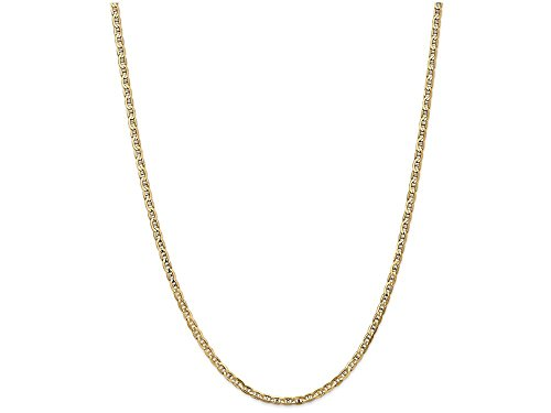 Finejewelers 24 Inch 14k Yellow Gold 3mm Concave Anchor Chain (14k Yellow Gold Anchor Chain)