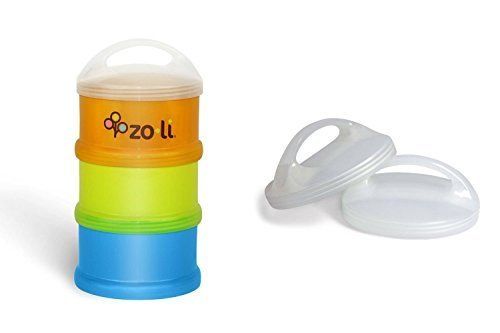 Zoli ''Sumo'' Baby Bundle - 1 Formula & Snack Dispenser + 2 Lids by Zo·Li