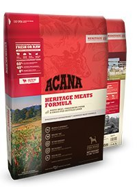 Acana Heritage Meats Formula Dry Dog Food 25 Pound Bag made with ANGUS BEEF, YORKSHIRE PORK & GRASS-FED LAMB (Fast Free Delivery)