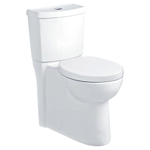 American Standard 2795.204.020 Studio Concealed Trapway Dual Flush Right Height Round Front Toilet, White (Flush Actuator Traditional)