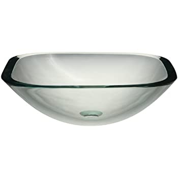 glass bowl sink explodes translucence square vessel transparent crystal with vanity blue sinks for bathrooms