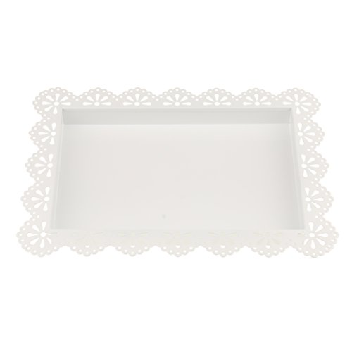 - Baoblaze Handled Cake Plate Tray Food Serving Tray Plate Candy Biscuits Dessert Bowl Wedding Venue Decor - White L