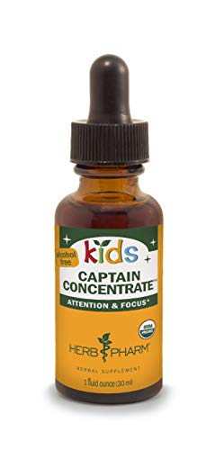 - Herb Pharm Kids Certified-Organic Alcohol-Free Captain Concentrate Liquid Herbal Formula, 1 Ounce