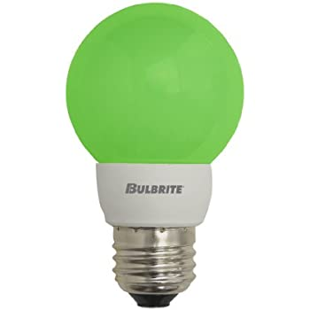 Bulbrite LED/G16G 1W LED Decorative G16 Globe, Green