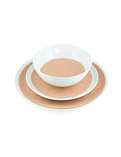 (Round Plate Stackr Value Pack: Tan, 6 Pcs)