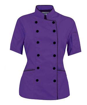 short sleeved chef coat - 9