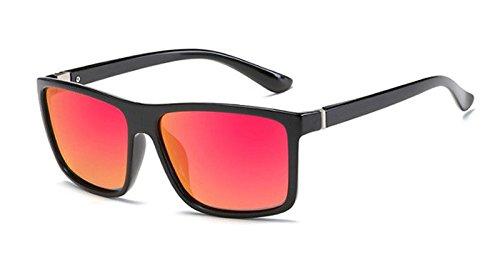 Mens Lentille Vintage Lot clair Cadre noir Polarized YouJi Women Square Sunglasses HD Eyeglasses rouge Frame Driving RYvOOwd6q