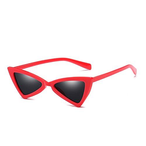 Red Sunglasses Leopard Women Cat Triangle Vintage Eye Glasses Red Black Female Butterfly Sun qa57En