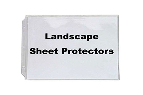 Sheets Binder 10 (Landscape Sheet Protectors, for Standard Size Paper, 10 In a Set, Crystal Clear, Heavy Duty, Horizontal Format.)