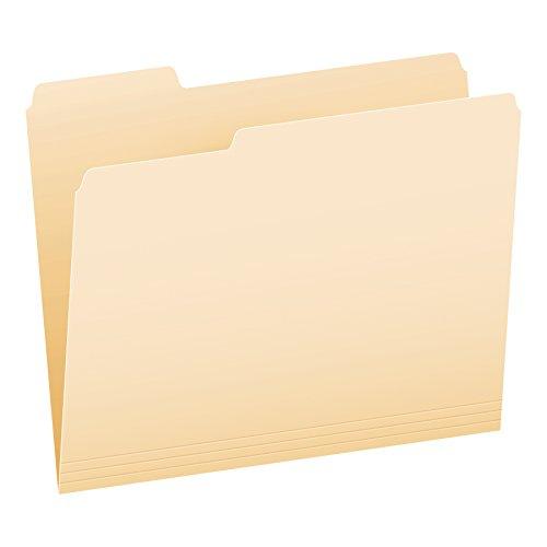 Pendaflex CutLess File Folders, Letter Size, Manila, 1/3 Cut, 100/BX (48420EE)