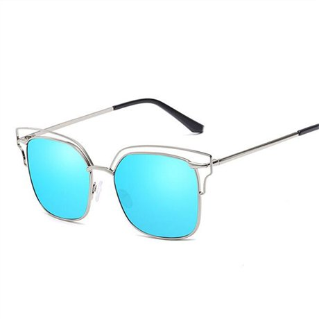 Mirror GGSSYY Mujer la sol de Vintage Blue Diseñador Cristal de Naranja Lentes Gafas marca Hombres de Gafas Clásicos trqrwC6