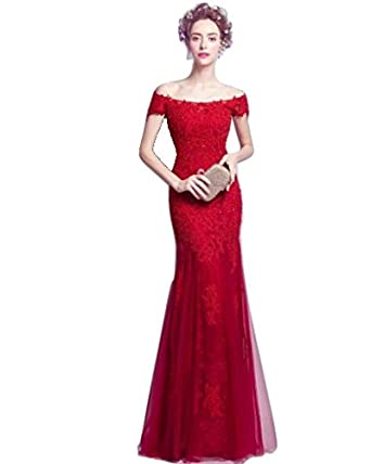 838be090f51 Valio Fashion Red Lace Evening Cocktail Bridesmaid Prom Dresses AN2777 (XL)